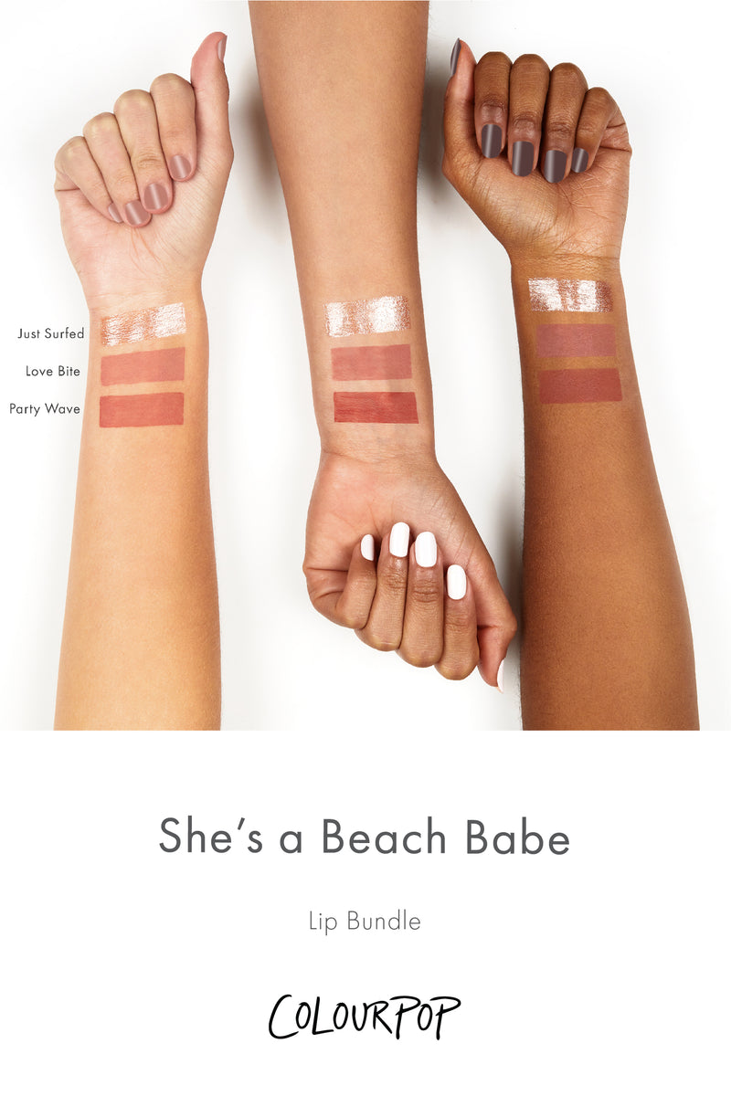 Party Wave Ultra Blotted Lip Arm Swatches