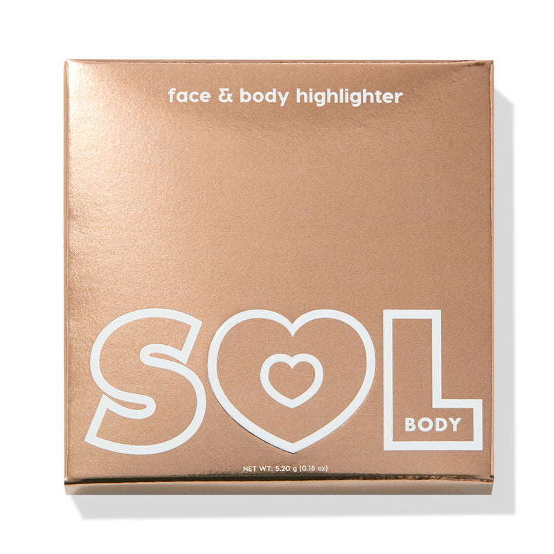 Soft Pink powder highlighter packaging