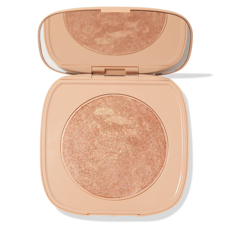 The Real Thing marbled warm bronze with golden pinpoints Super Shock Highlighter compact with mirror