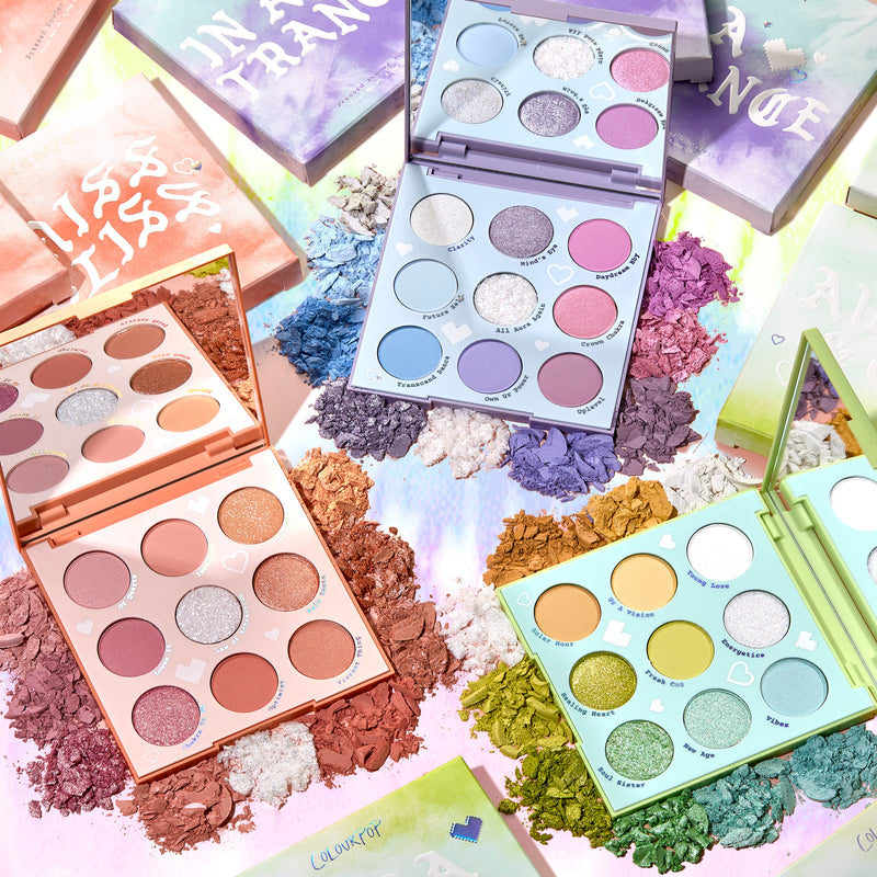 Cloud Dye Palette Vault includes Miss Bliss, In A Trance, and Aura & Out Eyeshadow Palettes