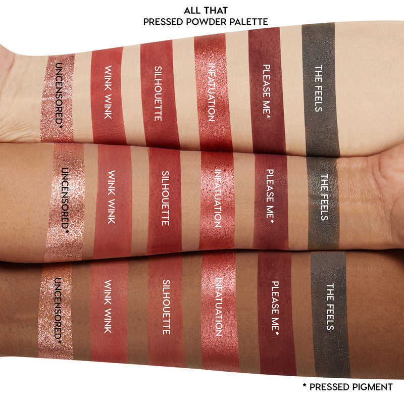 All That eyeshadow palette arm swatches