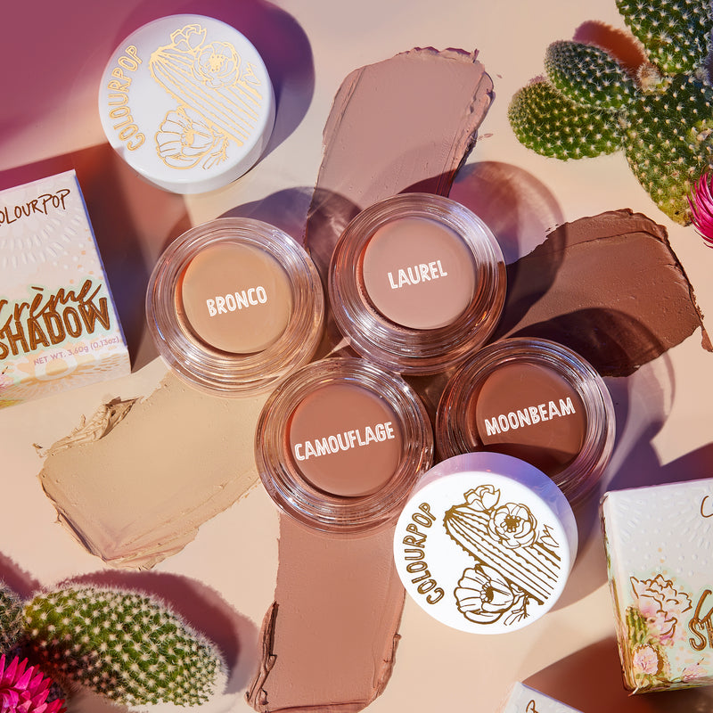 Laurel soft pinky nude Crème Eyeshadow pot with swatch