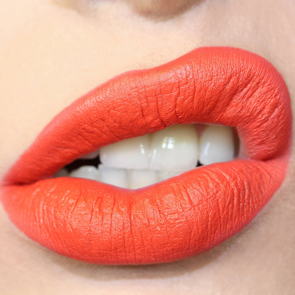 Clique orange red Lippie Stix swatch