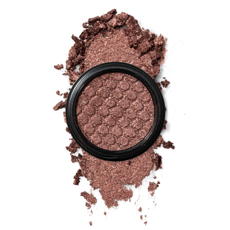 Disney x Colourpop Almost There Creme Powder Eyeshadow Bouncy Texture with Bold Color and Fine Glitter, Deep Bronze Drenched with Silver Glitter