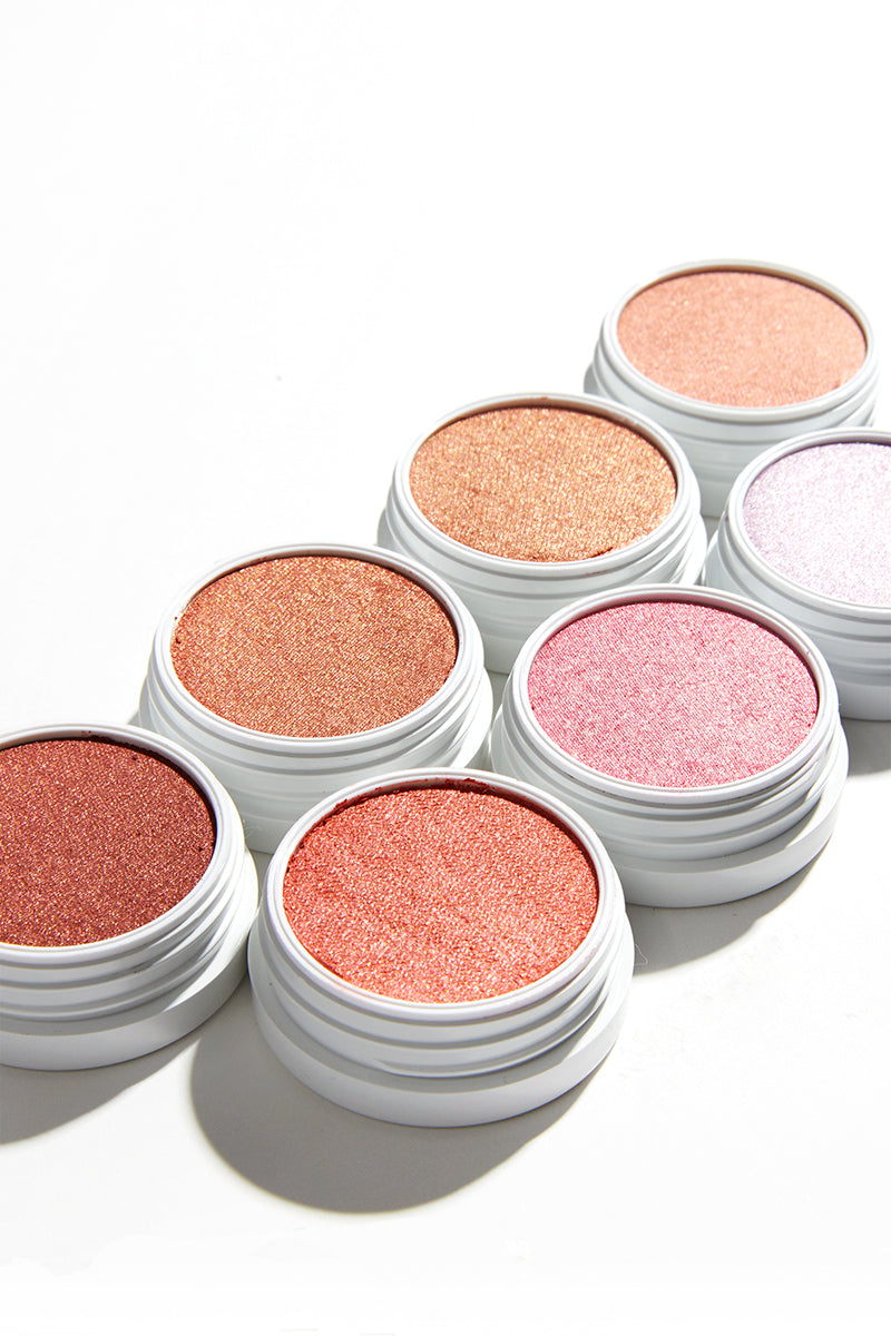 Teasecake pearlized pale pink with a soft pink sheen Super Shock Highlighter