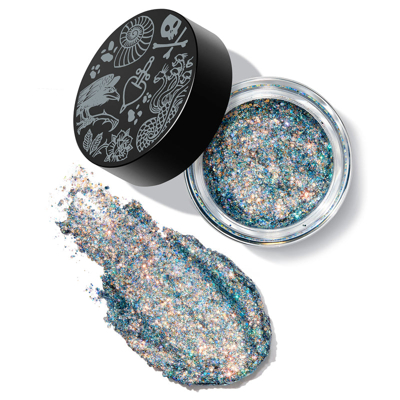 #DisneyVillainsAndColourPop  Anomaly Glitter Packed Gel Paste with Intense Sparkle with a Vibrant Teal, Multicolored Glitters