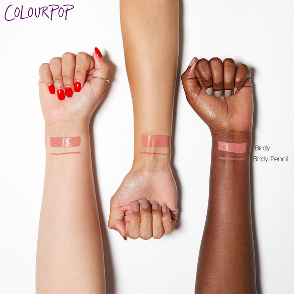 Birdy warm baby pink Lippie Pencil swatches