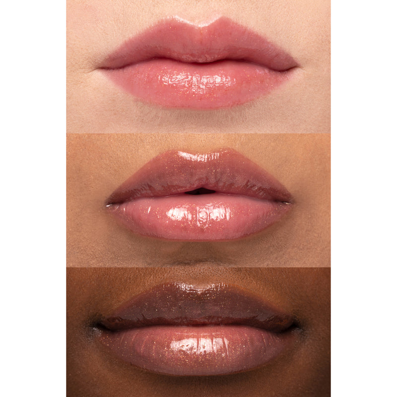 Karrueche x ColourPop - Bloozy Sheer rose packed with pearlescent gold flecks Ultra Glossy Lip