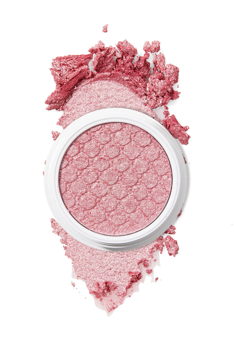 Bubbly pink Satin with tons of silver and pink glitter Super Shock eye Shadow