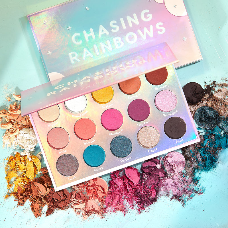 Chasing Rainbows colorful eye shadow palette