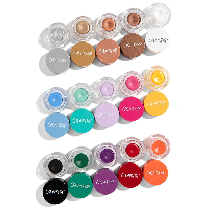 Colour Me Pretty Creme Gel Colour Eyeliner Pots PR Set 12 hour long wearing gel liner pots are versatile and so easy to use
