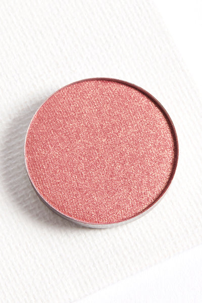 Come and Get It metallic duochrome rose pink gold pressed powder eye shadow