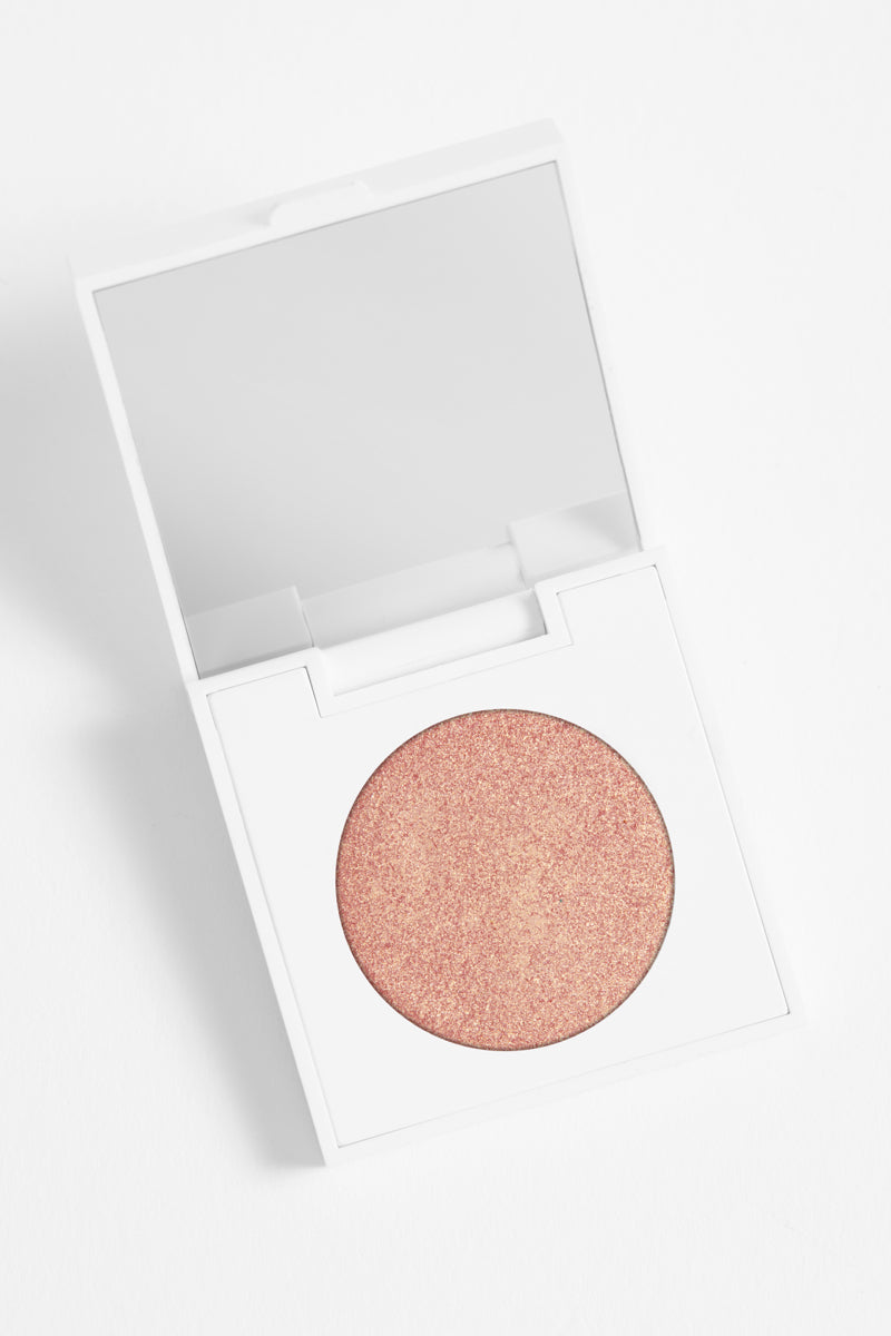 Comeback Kid metallic pink champagne Pressed Powder Eyeshadow in compact
