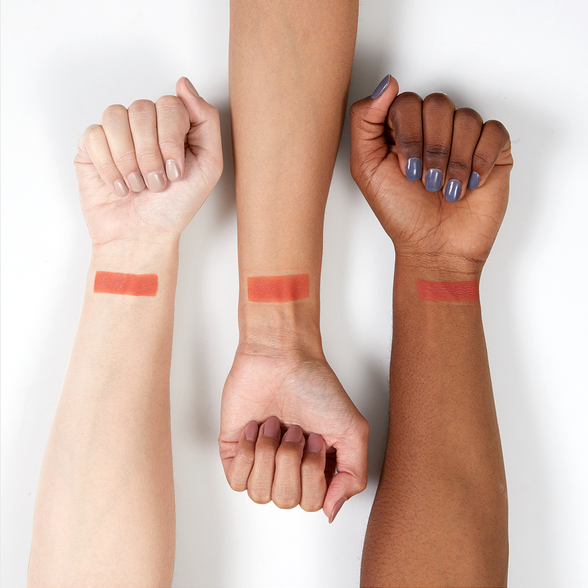 Cut-Outs matte dusty coral Pressed Powder eye shadow swatches