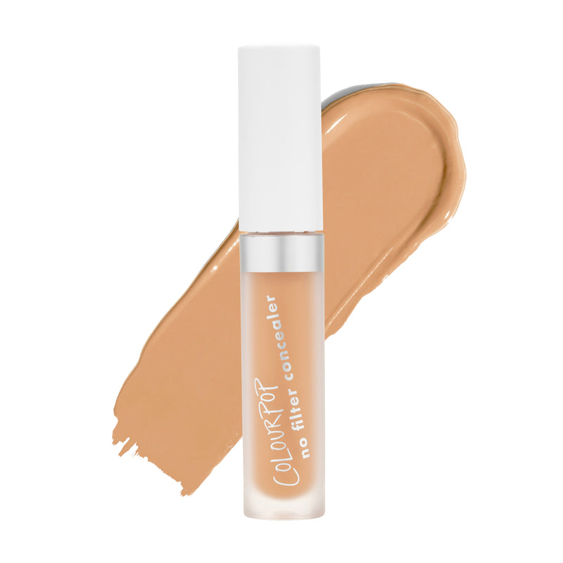 Dark 40 No Filter Concealer for dark skin tones with peachy yellow undertones