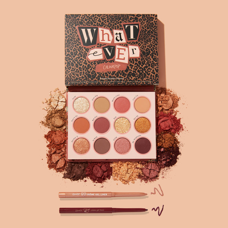 Down 4 Whatever Featuring our newest Whatever Shadow Palette and 2 matching Crème Gel Liners stylized photo