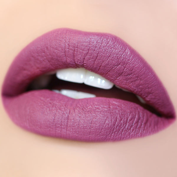 Back Up plum Matte X Lippie Stix swatch