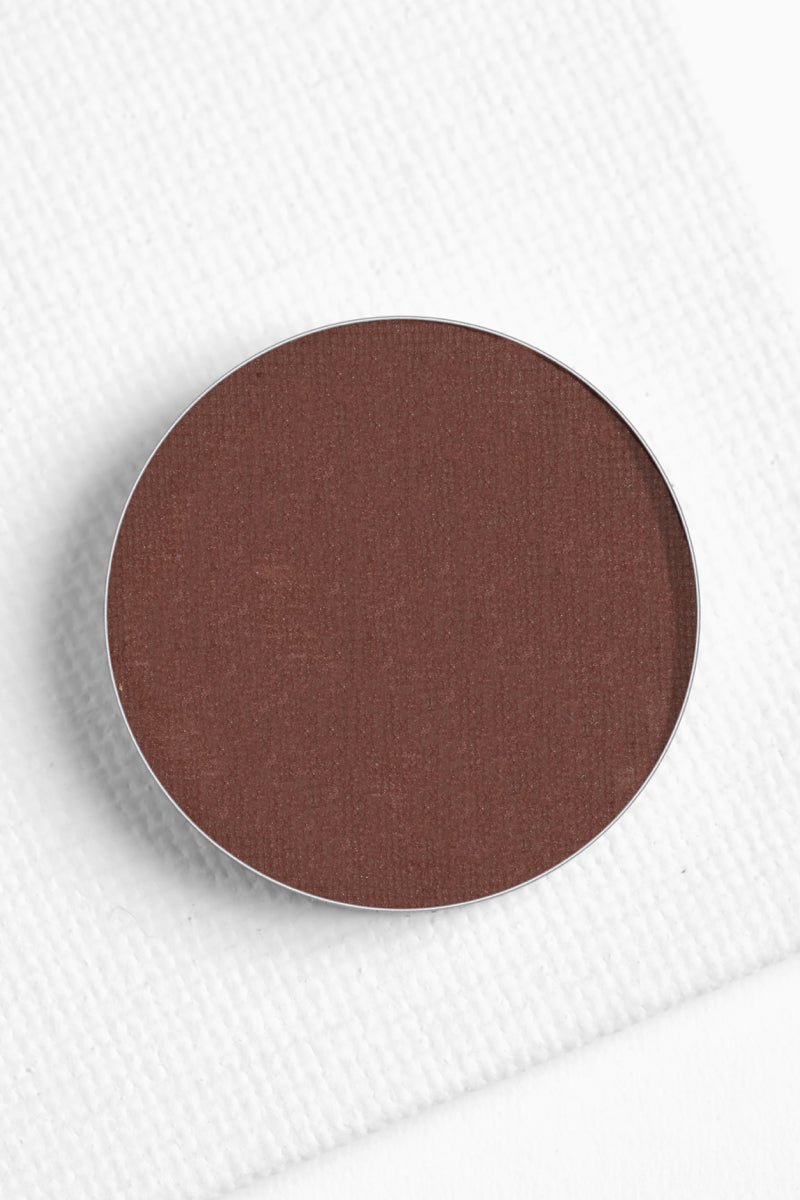 Feathered matte rich chocolate brown Pressed Powder Eyeshadow