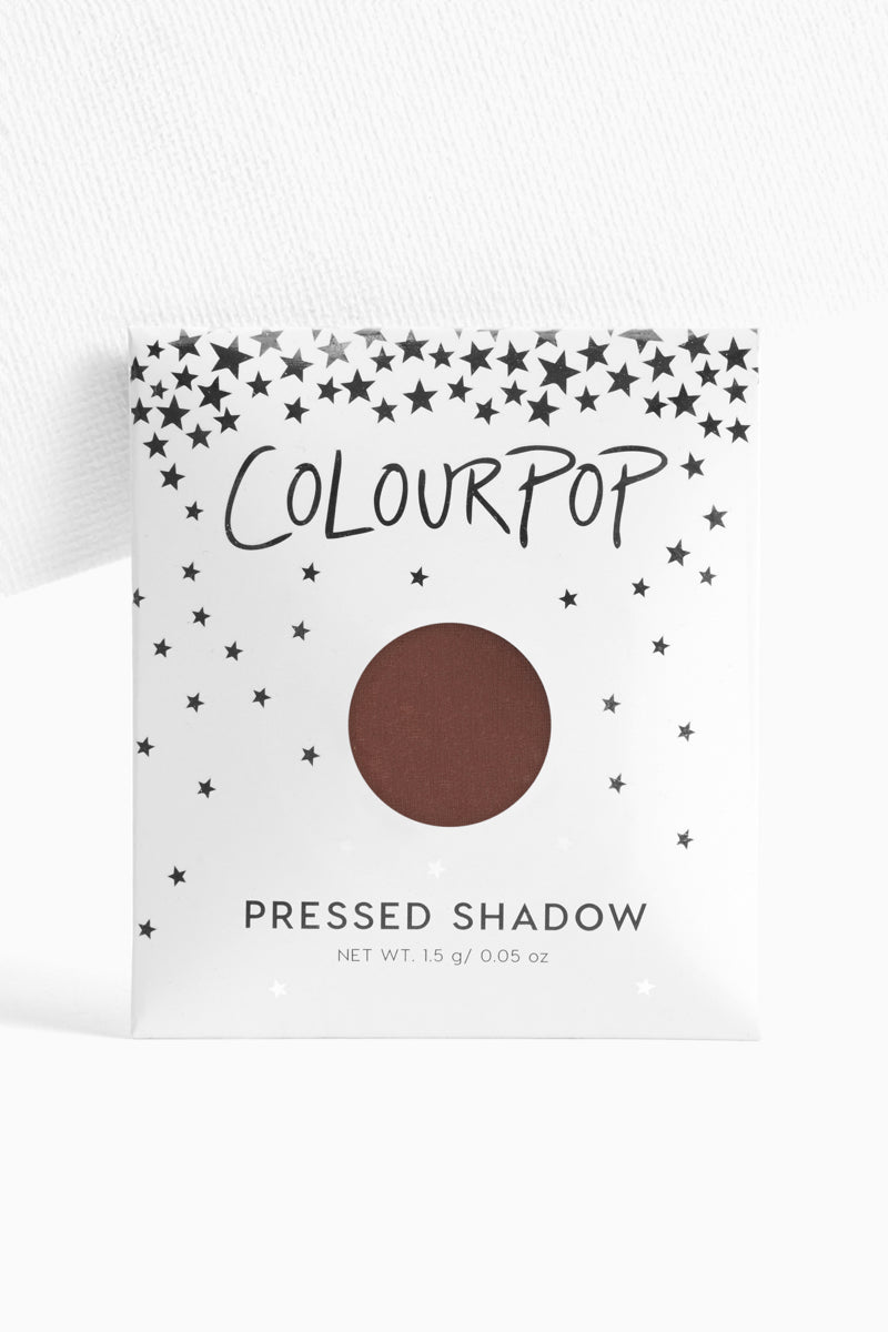 Feathered matte rich chocolate brown Pressed Powder Eyeshadow in envelope