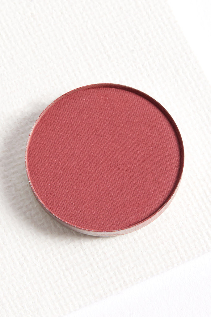 Get Out matte cool cranberry pinks purples pressed powder eye shadow