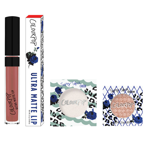 Nice includes Wild Nothing Ultra Matte Lip, Just Fur Fun eye shadow, and Fanny Pack Highlighter