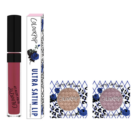 Sweet includes Wink Ultra Satin Lip, Tinsel eye shadow, and Koosh eye shadow