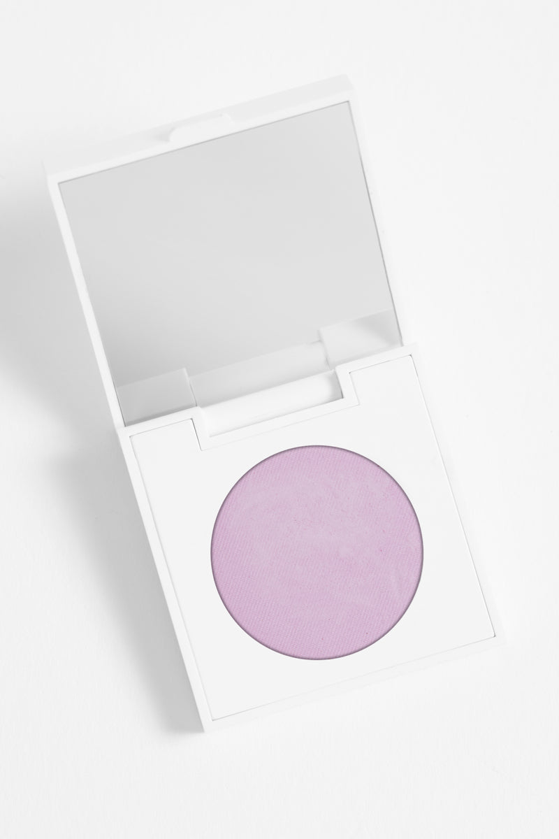 Howlin' matte soft lilac Pressed Powder Eyeshadow in compact
