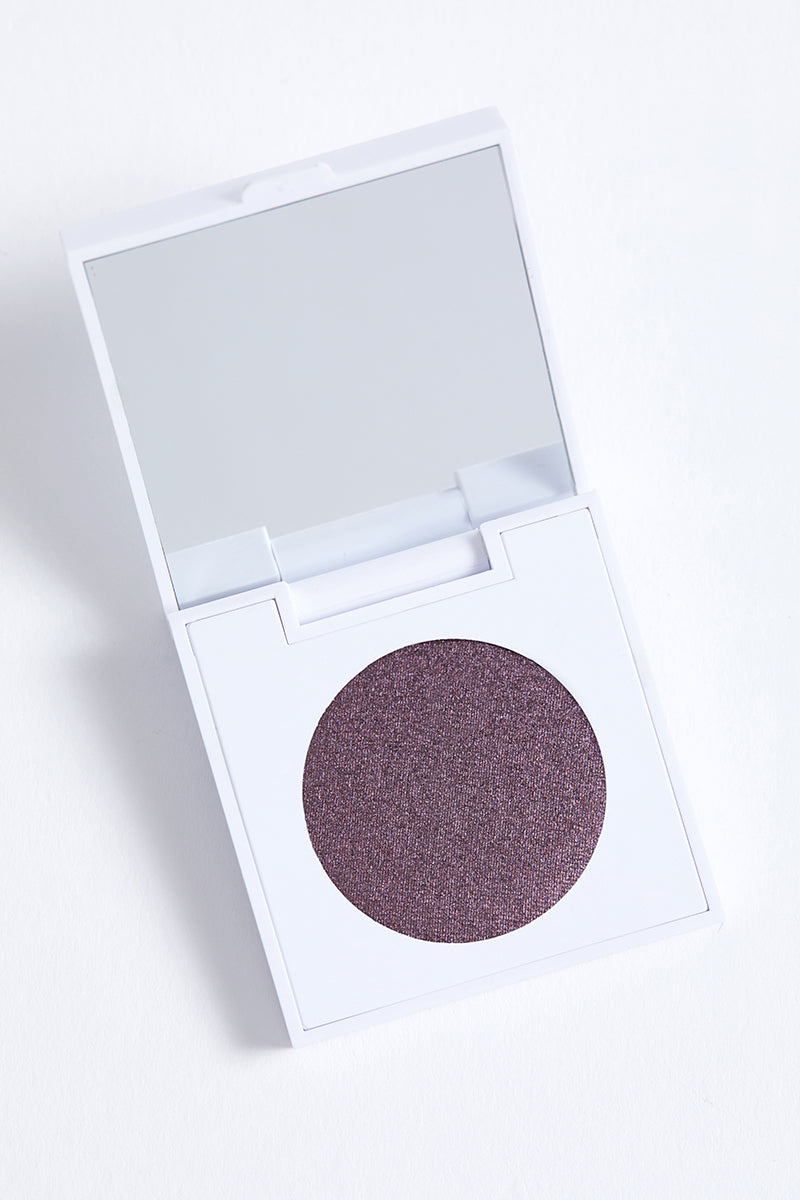 Hung Up metallic blackened purple Pressed Powder eye Shadow in compact