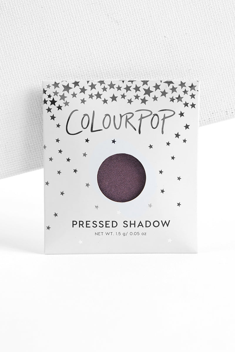 Hung Up metallic blackened purple Pressed Powder eye Shadow with envelope