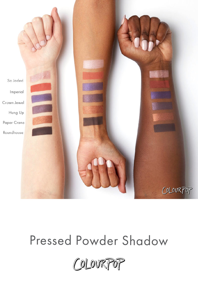 Hung Up metallic blackened purple Pressed Powder eye Shadow swatches
