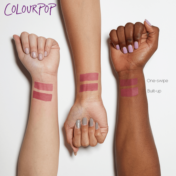 Ice Cube sheer matte cool-toned berry Blotted Lip arm swatches