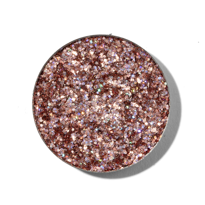 ColourPop Pressed Glitter Indio soft pink with holographic glitter with swatch