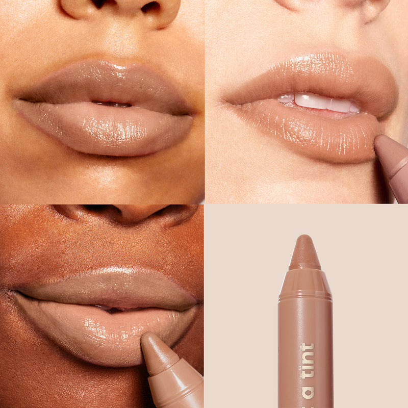 Island Time A sheer pinky nude Lip Tint lip swatches