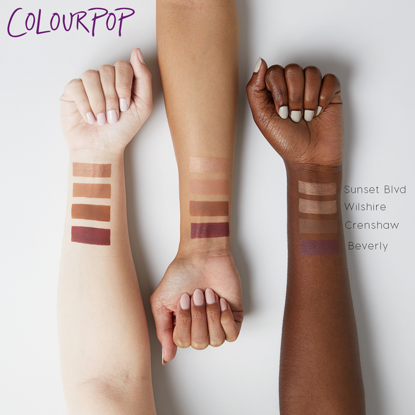Karrueche Beverly matte deepened blackberry Super Shock eye Shadow swatches