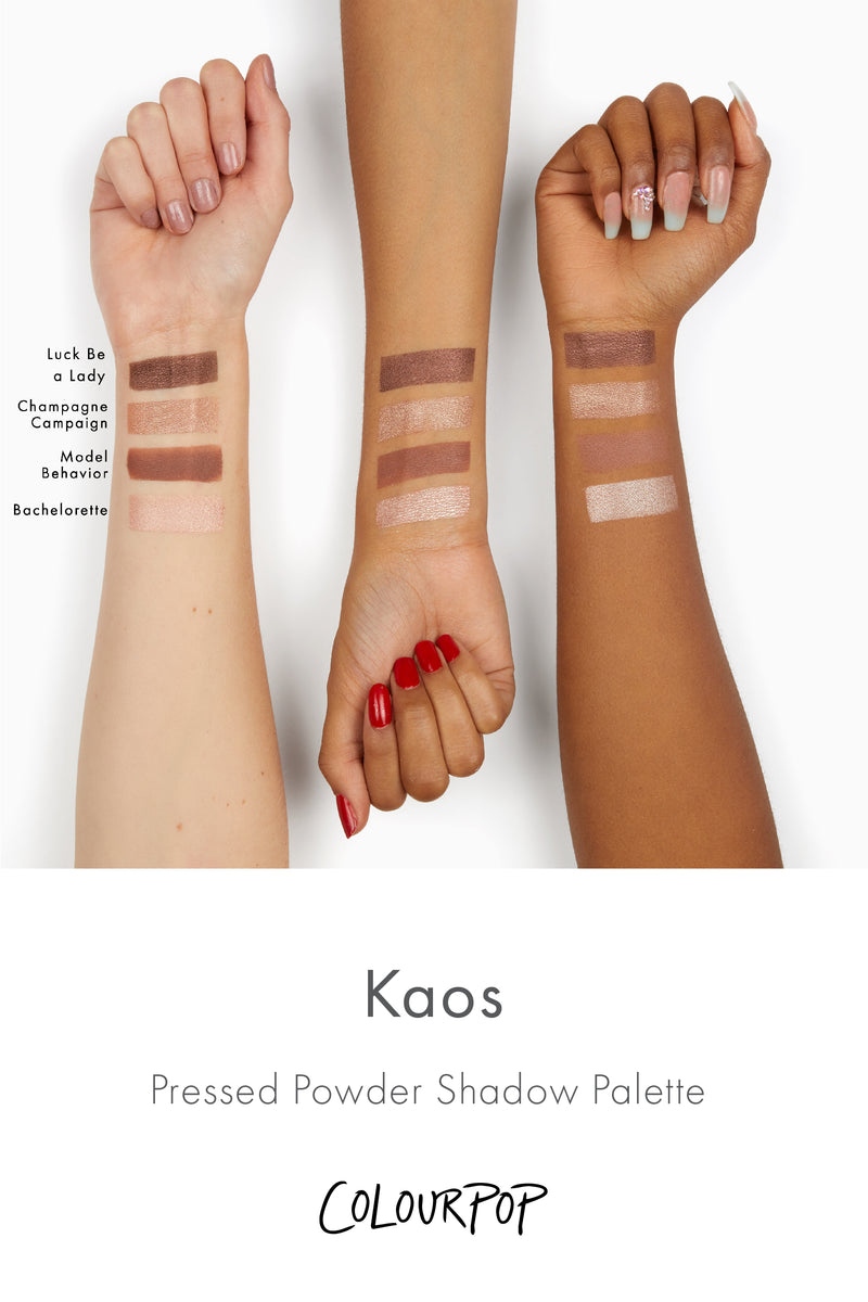 Wilson Gabrielle x ColourPop - Kaos Pressed Powder Eyeshadow Palette arm swatches