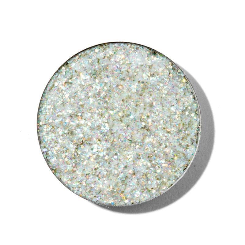 ColourPop Pressed Glitter Lightshow iridescent teal with swatch