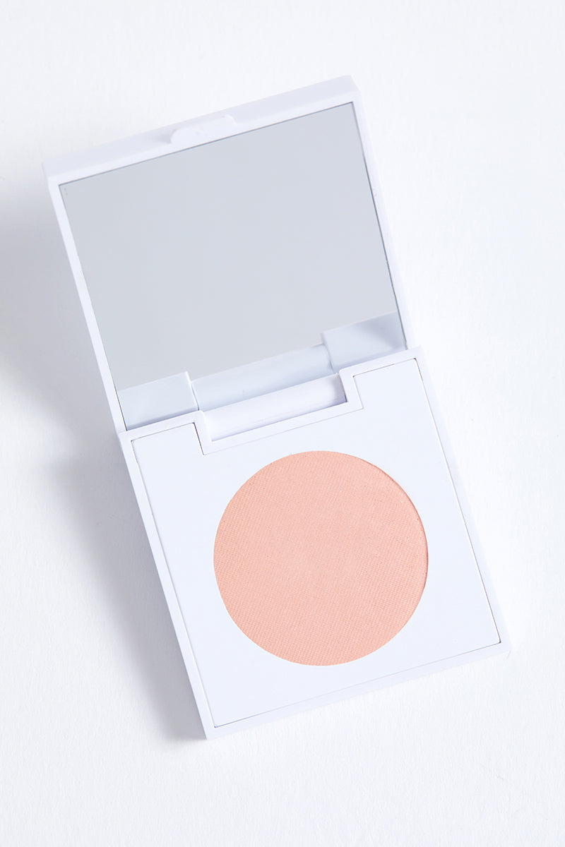 Lucky You matte true baby pink Pressed Powder eye Shadow in compact