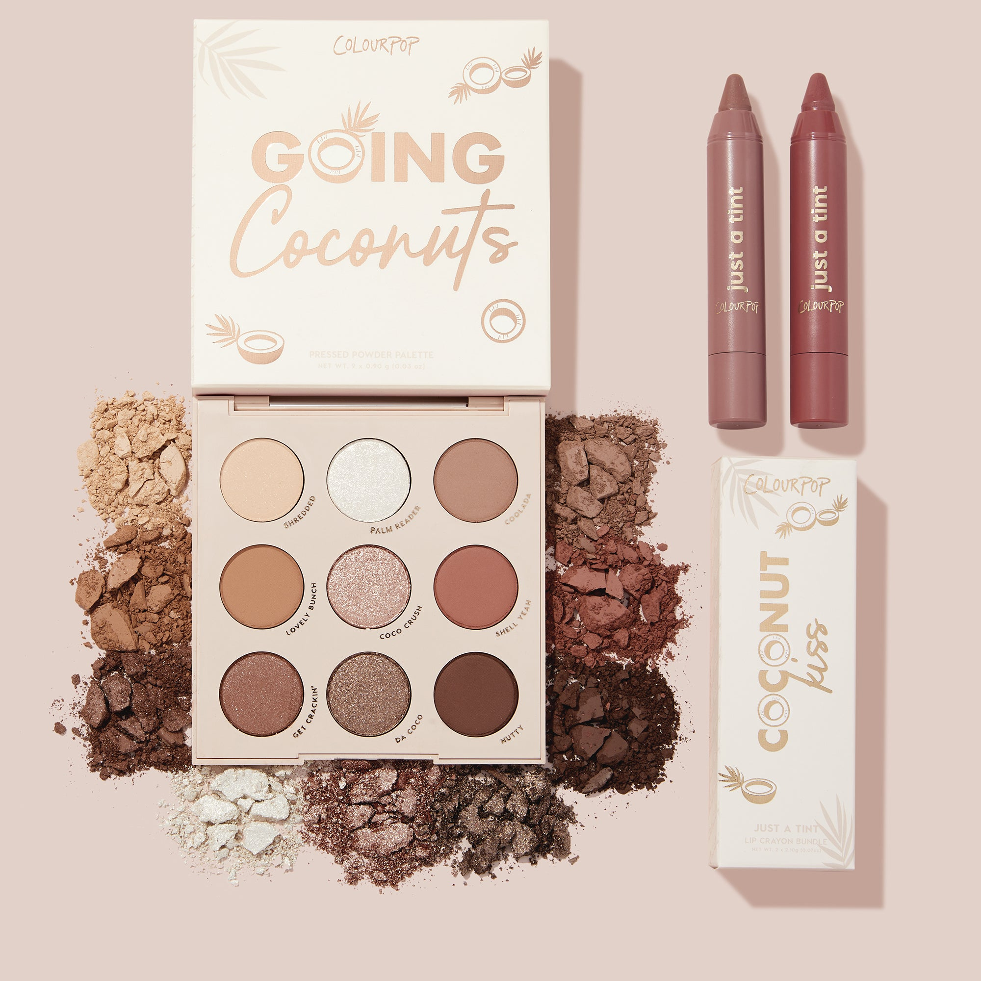 Made in the Shade includes a neutral palette with sheer nude lips