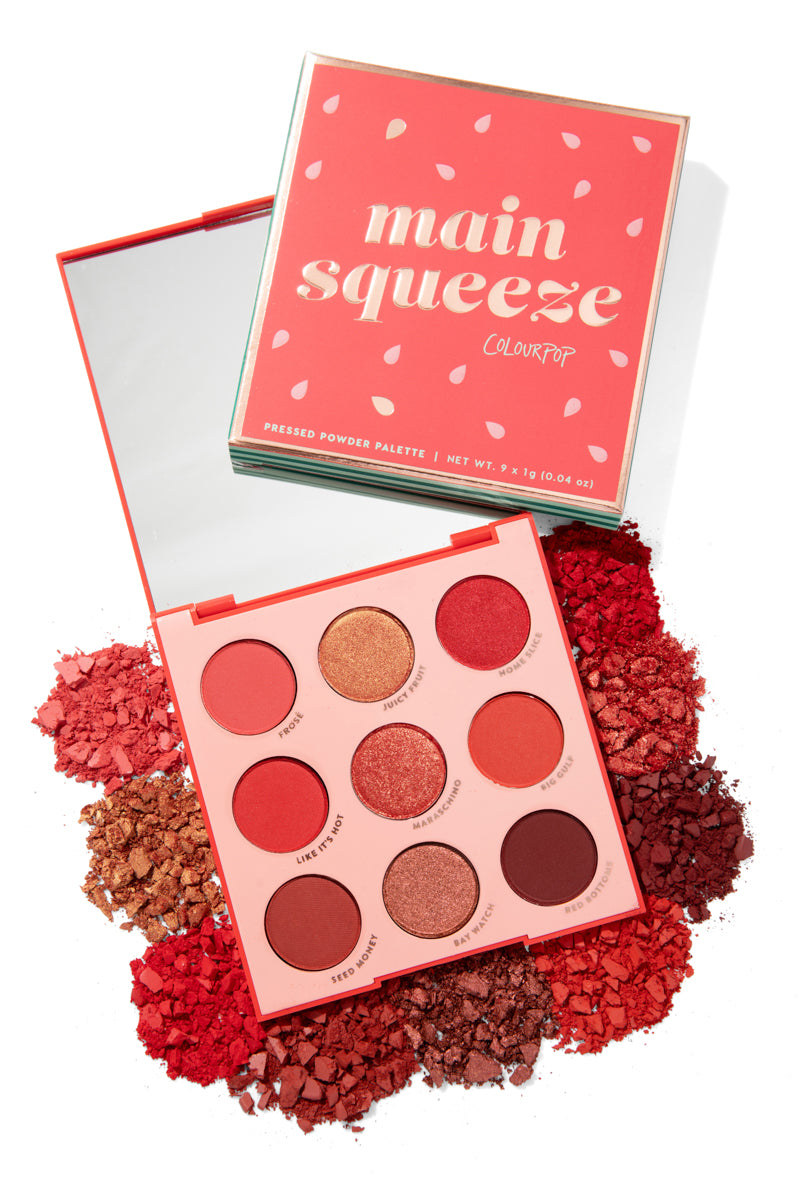 Colourpop Big Juicy Birthday Collection was created as your perfect kick off for summer fun and features our brand new red palette, Main Squeeze! Includes your fave summer formulas like Ultra Blotted Lip and Glitterally Obsessed
