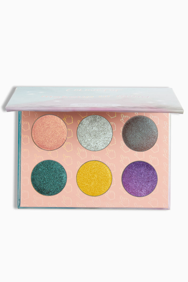 Colourpop Makeup UR Mind Pressed Powder Shadow Palette Bright Colors