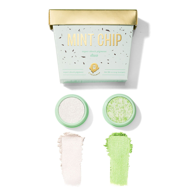 Halo Top Mint Chip Super Shock Pigment is a refreshing green and silver Super Shock duo with packaging