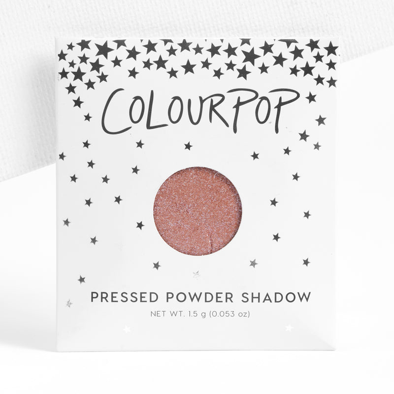 Misty metallic pinky rose gold with baby blue glitter Pressed Powder Shadow