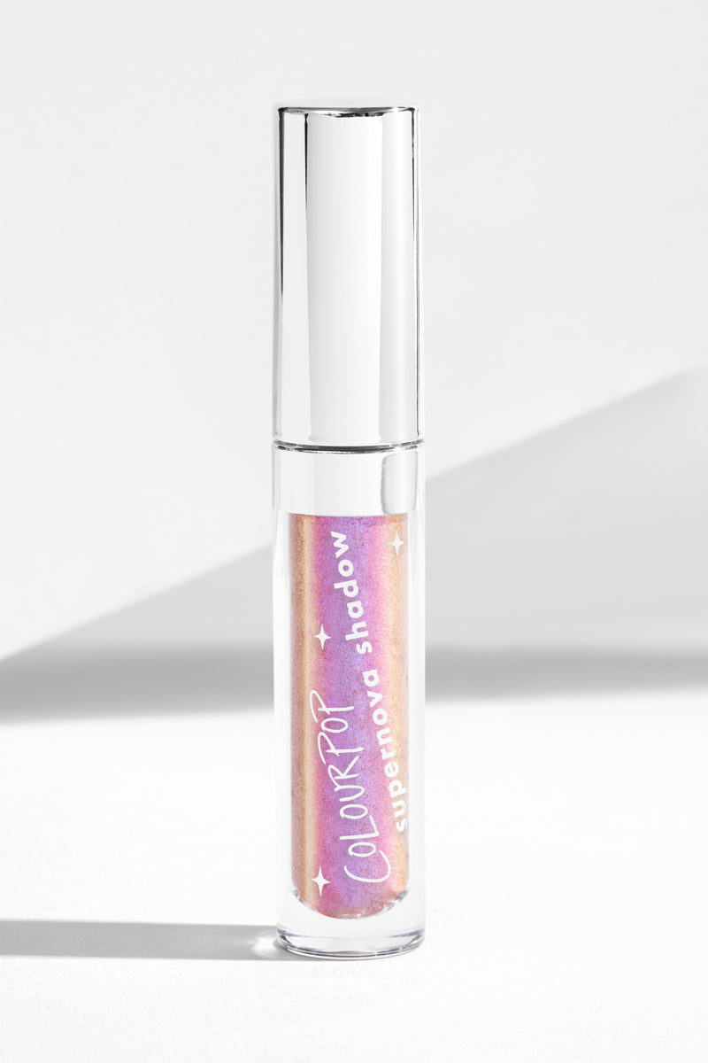 Over Again hot pink with a violet/blue flip Supernova liquid eyeshadow