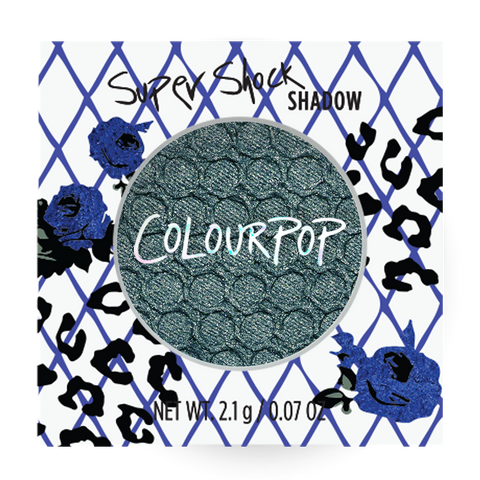 Patchwork turquoise blue green eye shadow