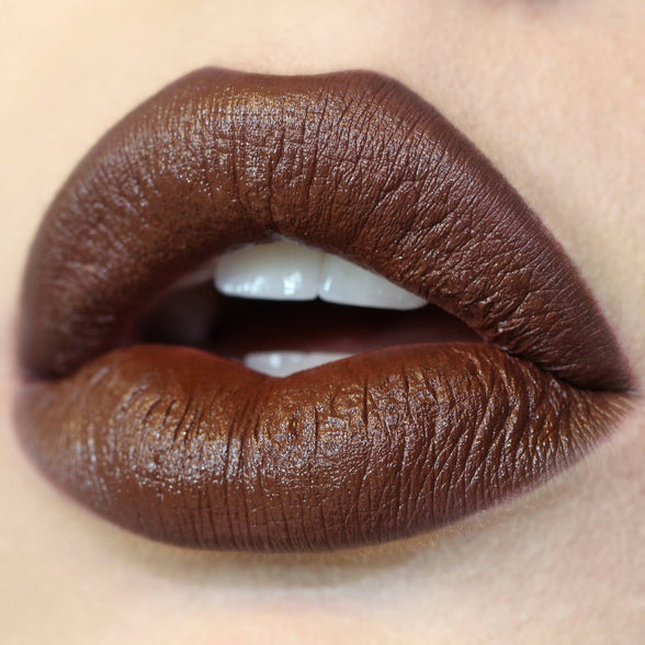 Pitch Set rich chocolate brown Lippie Pencil & Matte Lippie Stix swatch