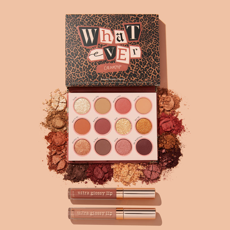Playing Hooky featuring our newest Whatever Shadow Palette and 2 nude Ultra Glossy Lips stylized photo