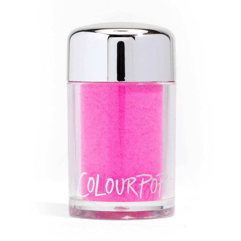 Colourpop Loose Pigment Collection highly concentrated loose pigments deliver intense colour and shine Pwr Up neon pink