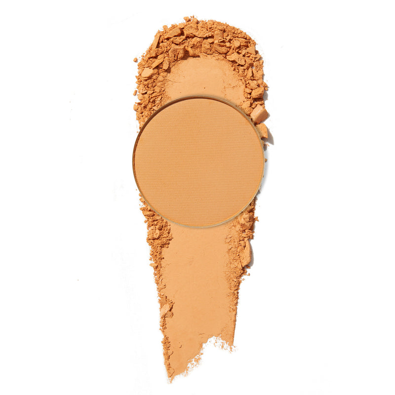 Running Late matte creamy peach orange pressed powder eye shadow