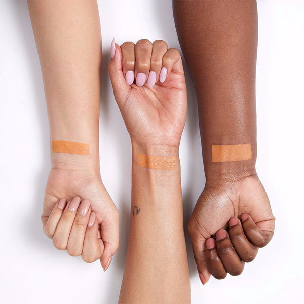 Running Late matte creamy peach orange pressed powder eye shadow swatches