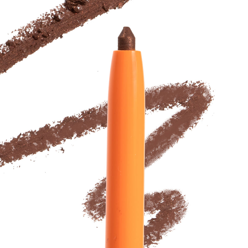 Zoella x ColourPop Sincerely Yours Creme Gel Liner pencil pearlized chocolate brown with swatch is waterproof